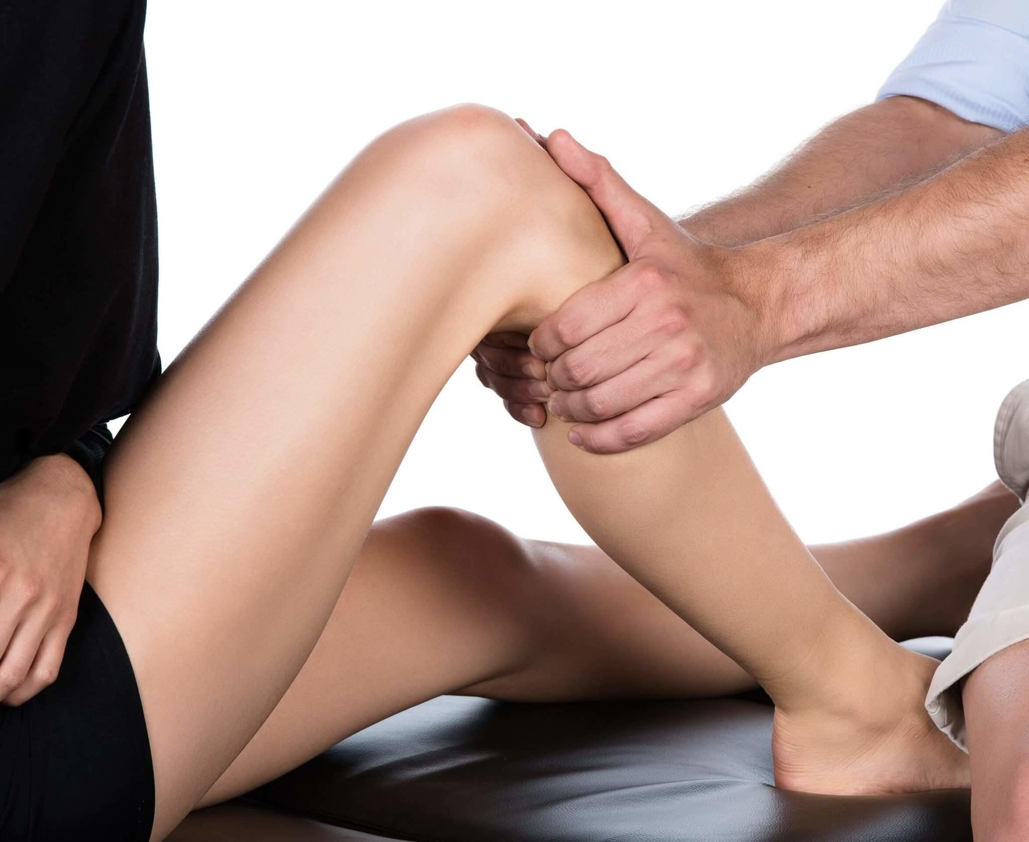Girl Leg Massage Chiropractor Denver