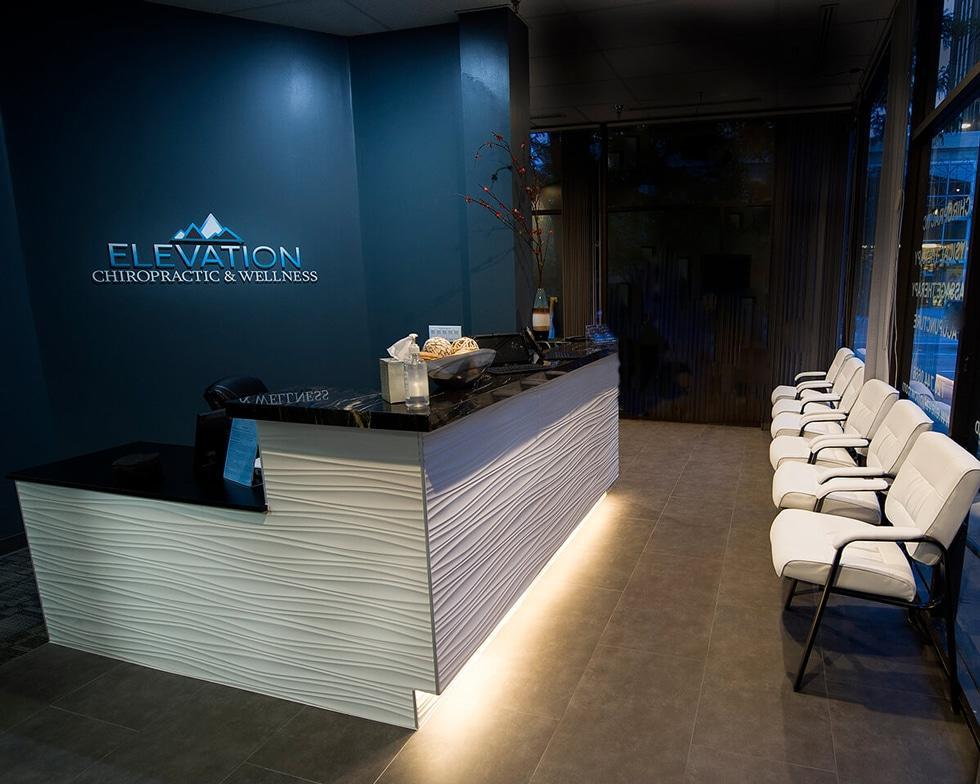 ecw fron desk area Chiropractor Denver