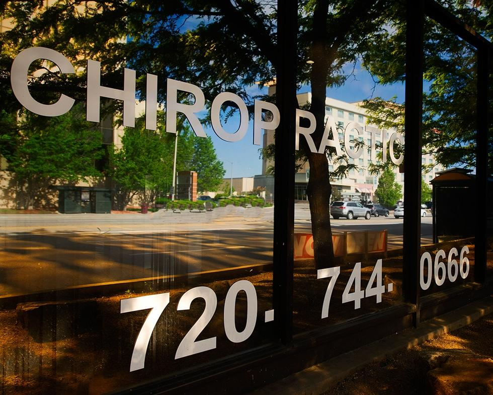 ecw front glass area Chiropractor Denver